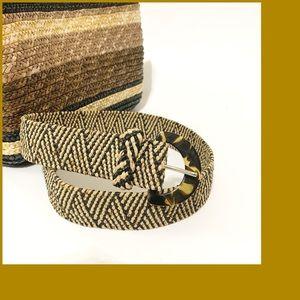 NWOT Woven Straw Elastic Belt